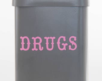 Drugs/Medicine Storage Tin/Jar/Canister