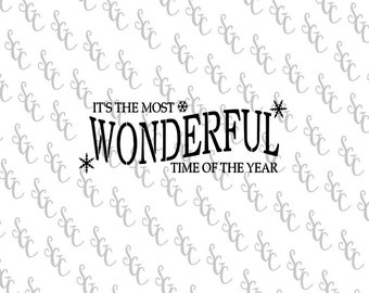 Reusable Stencil - The Most Wonderful Time of the Year - Many Sizes to Choose from!
