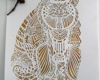 The bear: handmade papercut