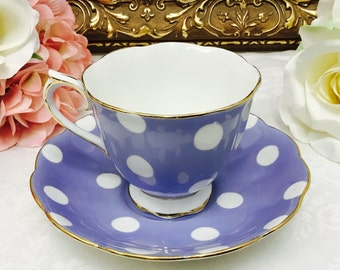 Royal Albert polkadot teacup and saucer.