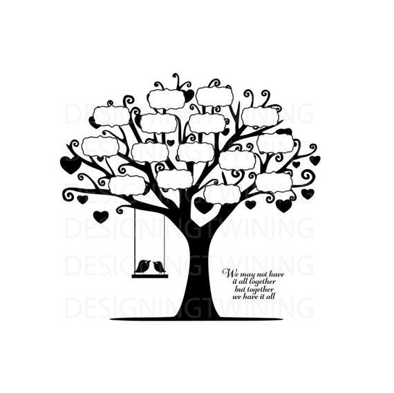 Family Tree Svg Png Pdf Dxf Digital File Family Tree File