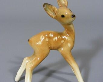Deer Figure,  Fawn Figurine,  Porcelain,  Western German, Vintage,  Cortendorf,  Free UK Postage