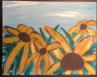 Sunflower valley hand painted canvas