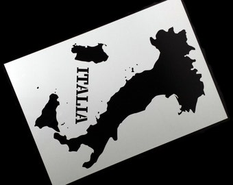 Map Of Italy Stencil