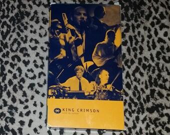 King Crimson: Live in Japan [VHS] Robert Fripp Adrian Belew Trey Gunn Tony Levin Bill Bruford Pat Mastelotto Prog Rock Concert Vhs Rare