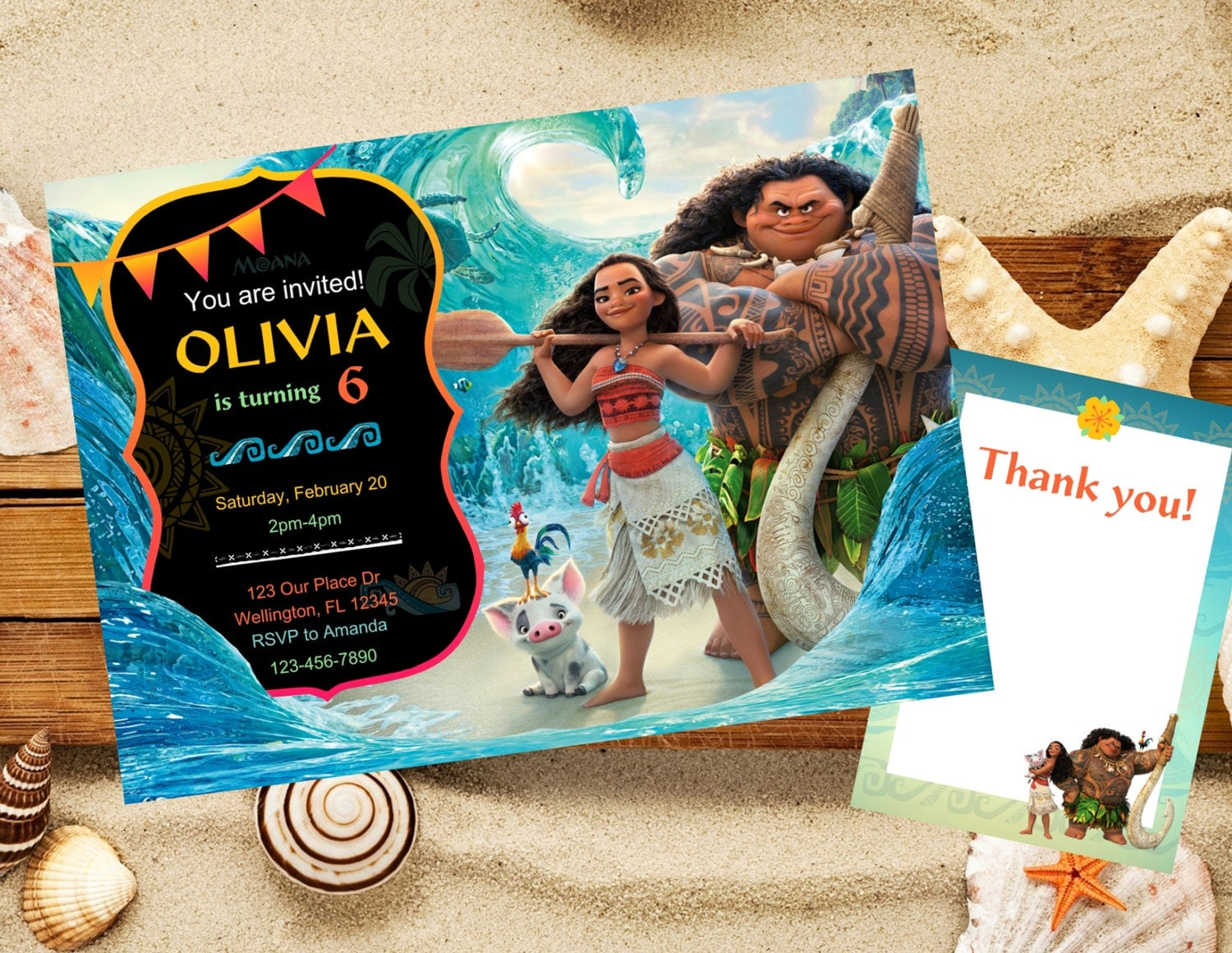 Moana Invitation Moana Birthday Invitation Disney Moana
