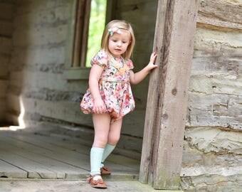 Girls romper - romper for toddler girls - baby romper - girls spring romper - toddler clothes for spring - spring romper for baby girls