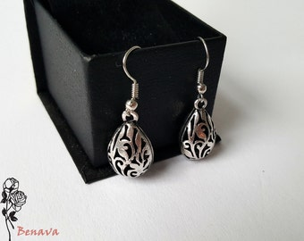 Earrings drop earrings retro silver vintage