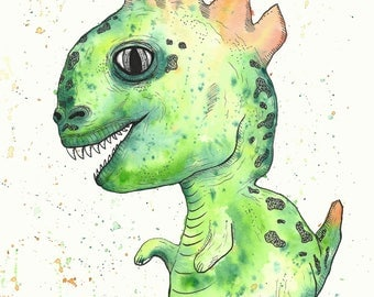 Trex Painting Etsy