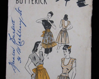 "Butterick 3972 Pinafore Apron Pattern, Complete size Medium 36-38"" bust"