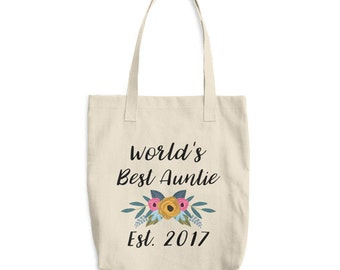Worlds Best Aunt Tote Bag, Worlds Best Auntie Tote Bag, Gift for Auntie, Gifts for Aunts, Auntie Gifts, Aunt Birthday Gift, Aunt Life,