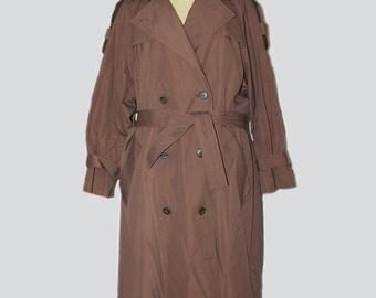 Vintage Oversize Trench Coat Women's // Vintage Trench Coat 80s // Vintage Normcore Trench Coat // 80s