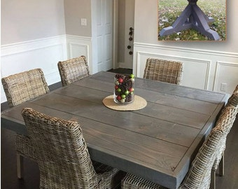 Farm House Table, Pedestal Table, Dine Table, Square Dining Farm Table, Farm Table, Dining Table