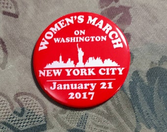WOMEN'S MARCH on Washington New York City supporters January 21 2017 election trump clinton red NYC