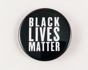"""10 Pack Black Lives Matter Buttons - Black 1.5"""""""