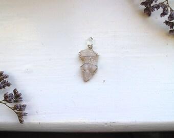 quartz geode pendant