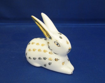 Cute hand decorated porcelain bunny, Easter gift
