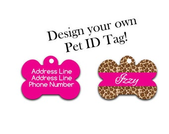 Design Your own pet tag | Pet Tag | ID Tag | Dog Tag | Dog ID | Pet Identification | Cat Tag
