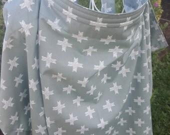 Nursing Cover Open Neck - Crosses over Grey