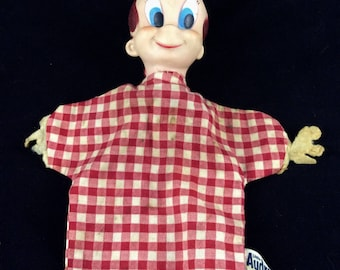 1950s Little Audrey Doll - Vintage Gund Hand Puppet - Harvey Famous Cartoons