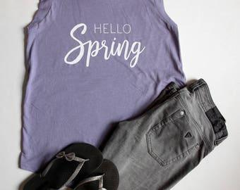 Hello Spring Cap Sleeve Top Light Purple
