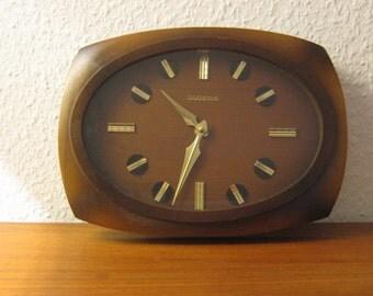 Mid Century Wall Clock by Dugena