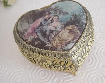 Ornate Heart Shaped Trinket Box