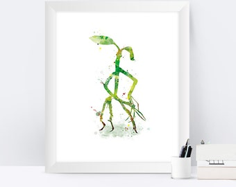 Pickett the Bowtruckle Watercolor Print Fantastic Beasts Poster Harry Potter Fantastic Beasts Pickett Instant Digital Download