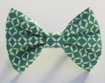 Flowers on Fern Green Bow Tie- All Sizes