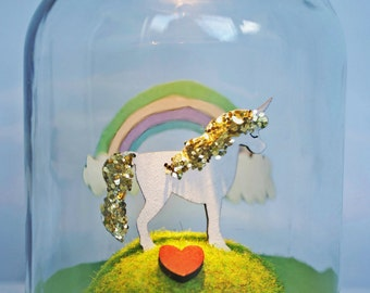 Light-up Unicorn Jar