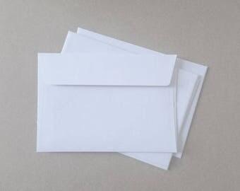 Plain white envelopes - C6 - to fit A6 invitations.