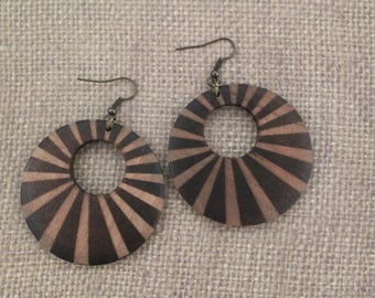 Earrings / Wood Earrings / Brown Earrings
