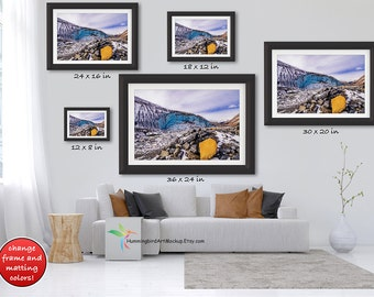 PSD FILE Framed Wall Art Mockup Template Styled Stock Photo 3 To 2