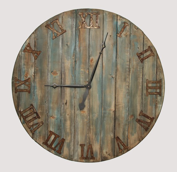 oversized wall clock handmade wooden clock by mystictimes