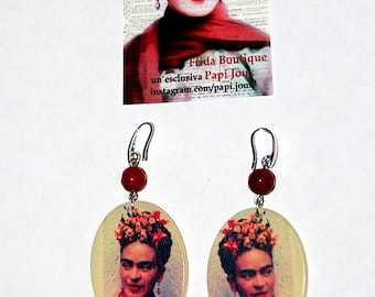 "Capsule collection ""Frida"" Frida ""boutique-earrings red"""
