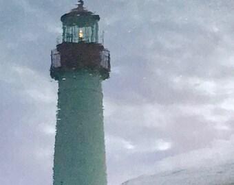 Seashore Photograph, Seashore Print, Seashore Art, Lighthouse Photo, Lighthouse Print, Cape May NJ, Seashore Decor, Beach House, Beach Decor