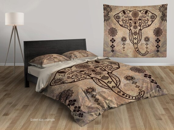 Elephant Bedding Bohemian Bedding Set King Queen Twin