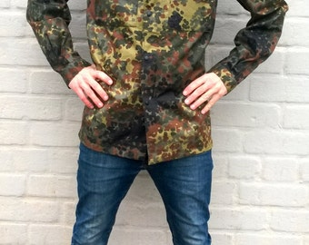 German army field jacket, military coat, camo men's jacket, women outdoor jacket, german army, bundeswehr, men military uniform, M/L/XL