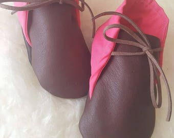 Handcrafted Soft Sole Leather Baby Shoes / First  Walkers