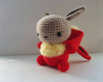 Flareve Amigurumi/crochet | Eevee-Flareon | Pokemon inspired | gift for him | gift for her | plush | unique/hybrid [Made to order]