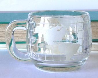 Nestle, Glass Mug, Vintage, Drinkware
