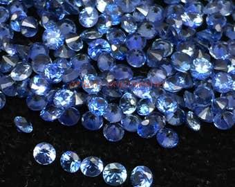 30% Rare Natural Blue Sapphire Brilliant Cut Faceted Round Gemstone 1.60mm 10 PCs LOT Very Rare Gemstone CODE#BS06