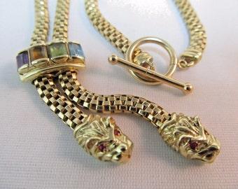 14K Gold Custom Deco Vintage Necklace #497