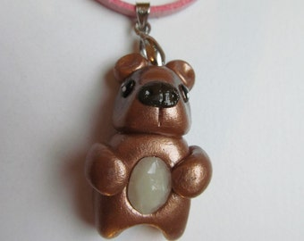 Custom Teddy Bear Necklace - Made to Order