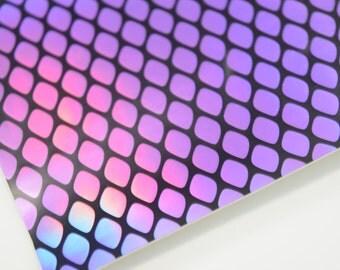 MERMAID sheet,8x11 faux leather,purple metallic material,purple mermaid material,purple reflective material,purple reflective fabric