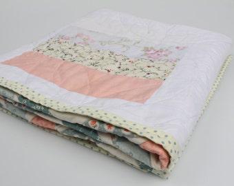 """Floral Lap/Bed quilt 40"""" x 40"""""""