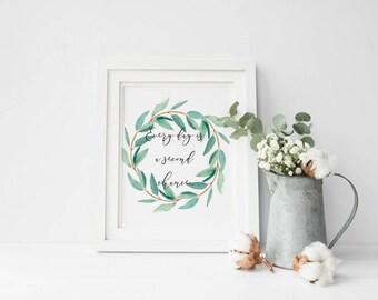 Motivational Art Print, Greenery, Eucalyptus Print, Motivational Gifts, New Beginnings, Gift for traveller, Cheer Up Gift, Gift for friend