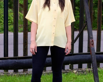 Yellow Silk Vintage Shirt