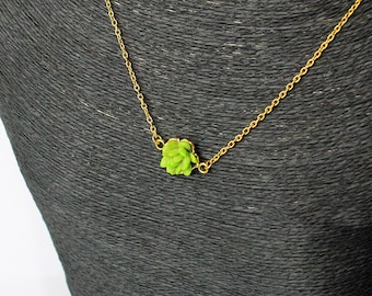 green necklace plant pendant necklace floral mom gift small succulent jewelry green blue necklace woodland necklace sister birthday gift Р66