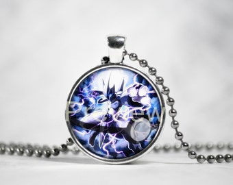 Armored Mewtwo Pokemon Pendant, Pokemon Necklace with ball chain
